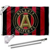 Atlanta United FC Jersey Stripes Flag Pole and Bracket Kit