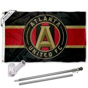 Atlanta United FC Stripes Flag Pole and Bracket Kit