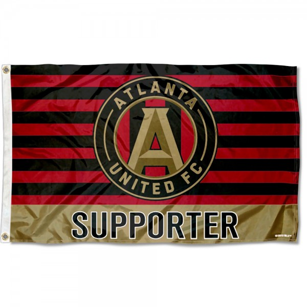 Atlanta United FC Supporter 3x5 Foot Logo Flag measures 3x5 feet and offers quadruple stitched flyends. Atlanta United FC Supporter 3x5 Foot Logo Flag is made of polyester, has two metal grommets, and is viewable from both sides with the opposite side being a reverse image. This Atlanta United FC Supporter 3x5 Foot Logo Flag is Officially Licensed and MLS Approved.
