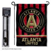 Atlanta United Soccer Club Garden Flag and Flagpole Stand