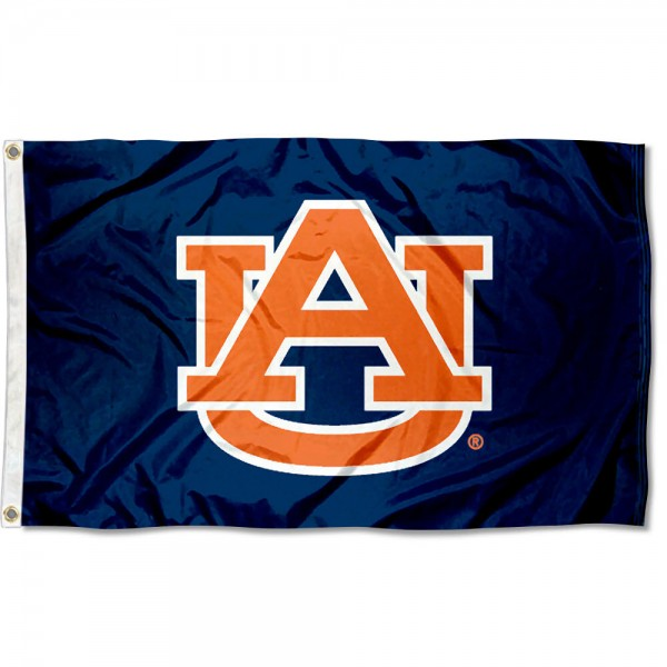 Auburn Blue Polyester Flag measures 3'x5', is made of 100% poly, has quadruple stitched sewing, two metal grommets, and has double sided Auburn University logos. Our Auburn Blue Polyester Flag is officially licensed by the selected university and the NCAA.