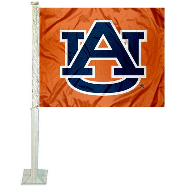 Auburn Car Window Flag measures 12x15 inches, is constructed of sturdy 2 ply polyester, and has screen printed school logos which are readable and viewable correctly on both sides. Auburn Car Window Flag is officially licensed by the NCAA and selected university.