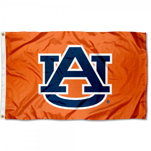 Auburn Flag measures 3x5 feet, is made of 100% polyester, offers quadruple stitched flyends, has two metal grommets, and offers screen printed NCAA team logos and insignias. Our Auburn Flag is officially licensed by the selected university and NCAA.