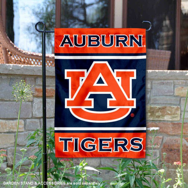 Auburn Garden Flag is 13x18 inches in size, is made of 2-layer polyester, screen printed logos and lettering. Available with Same Day Express Shipping, Our Auburn Garden Flag is officially licensed and approved by the NCAA.