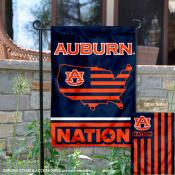 Auburn Garden Flag with USA Country Stars and Stripes