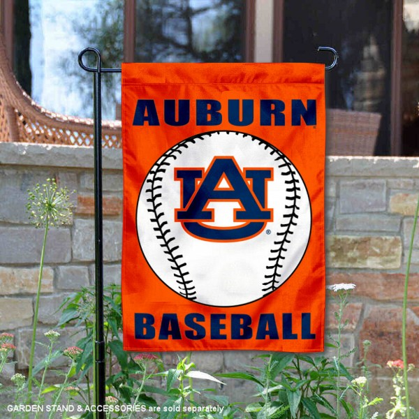 Auburn Tigers Baseball Team Garden Flag is 13x18 inches in size, is made of 2-layer polyester, screen printed Auburn University Baseball athletic logos and lettering. Available with Express Shipping, Our Auburn Tigers Baseball Team Garden Flag is officially licensed and approved by Auburn University Baseball and the NCAA.