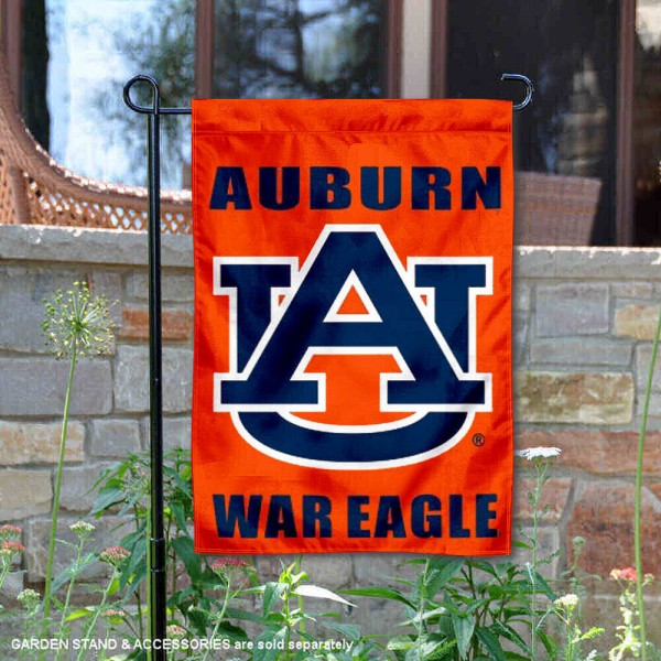 Auburn Tigers Garden Flag is 13x18 inches in size, is made of 2-layer polyester, screen printed Auburn University athletic logos and lettering. Available with Same Day Express Shipping, Our Auburn Tigers Garden Flag is officially licensed and approved by Auburn University and the NCAA.