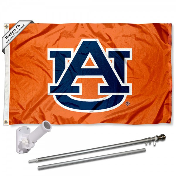 Auburn Tigers Orange Flag Pole and Bracket Kit