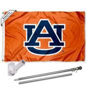Auburn Tigers Orange Flag Pole and Bracket Kit