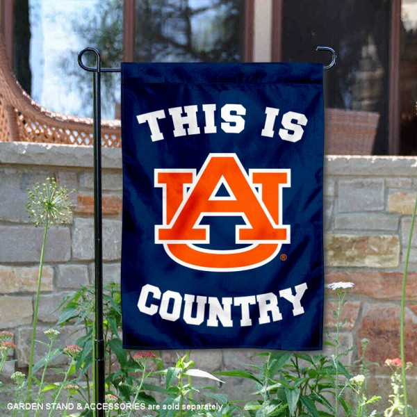 Auburn University Country Garden Flag is 13x18 inches in size, is made of 2-layer polyester, screen printed university athletic logos and lettering, and is readable and viewable correctly on both sides. Available same day shipping, our Auburn University Country Garden Flag is officially licensed and approved by the university and the NCAA.