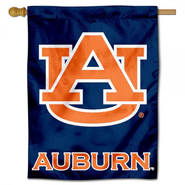 "Auburn University Decorative Flag is constructed of polyester material, is a vertical house flag, measures 30""x40"", offers screen printed athletic insignias, and has a top pole sleeve to hang vertically. Our Auburn University Decorative Flag is Officially Licensed by Auburn University and NCAA."
