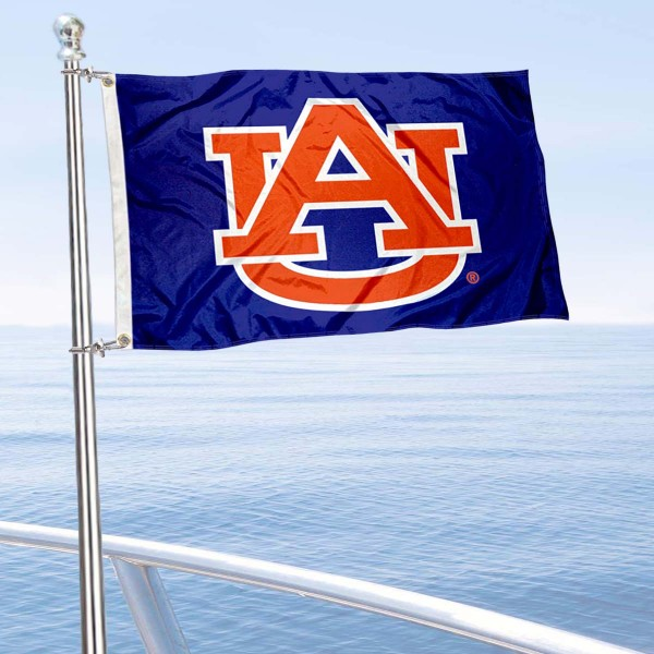 Auburn University Golf Cart Flag is a small 12x18 inches, made of 2-ply polyester with quad stitched flyends, and is double-sided. Our Golf Cart Logo Flags are Officially Licensed and Approved by Auburn and NCAA.