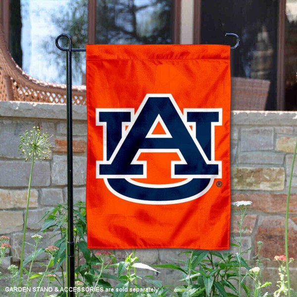Auburn University Orange Garden Flag is 13x18 inches in size, is made of 2-layer polyester, screen printed Auburn University Orange athletic logos and lettering. Available with Same Day Express Shipping, Our Auburn University Orange Garden Flag is officially licensed and approved by Auburn University and the NCAA.