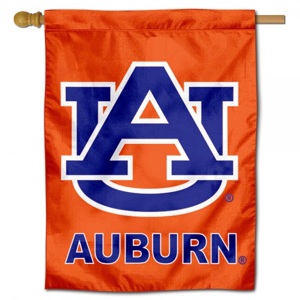 Auburn University Orange House Flag is a vertical house flag which measures 30x40 inches, is made of 2 ply 100% polyester, offers dye sublimated NCAA team insignias, and has a top pole sleeve to hang vertically. Our Auburn University Orange House Flag is officially licensed by the selected university and the NCAA.