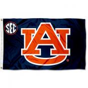 Auburn University SEC Logo Flag