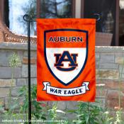 Auburn University War Eagle Shield Garden Flag