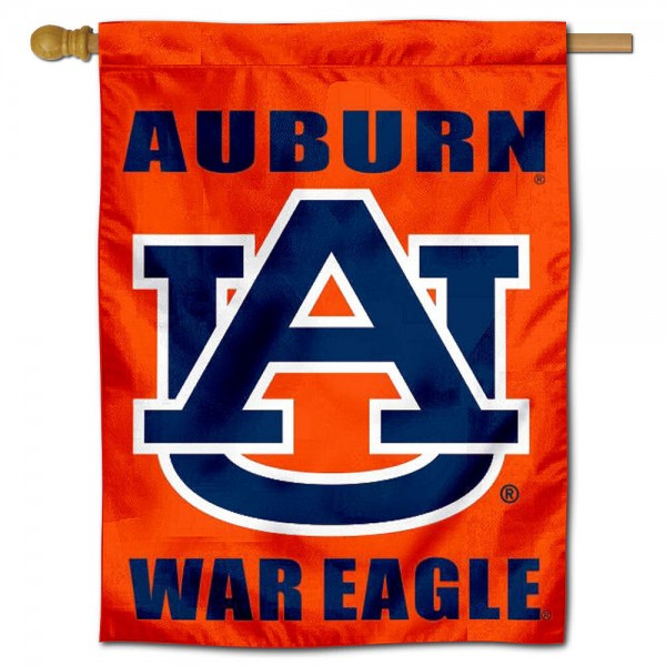 Auburn War Eagle Banner Flag is a vertical house flag which measures 30x40 inches, is made of 2 ply 100% polyester, offers dye sublimated NCAA team insignias, and has a top pole sleeve to hang vertically. Our Auburn War Eagle Banner Flag is officially licensed by the selected university and the NCAA.