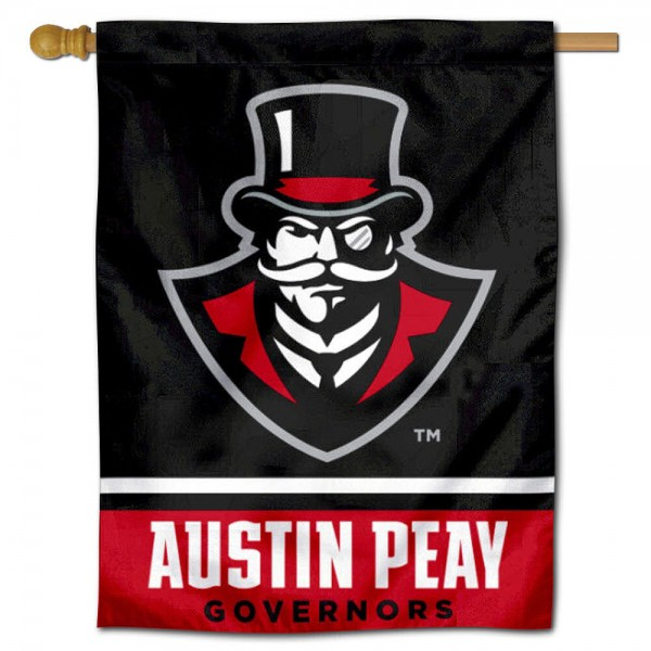 "Austin Peay Governors Banner Flag is constructed of polyester material, is a vertical house flag, measures 30""x40"", offers screen printed athletic insignias, and has a top pole sleeve to hang vertically. Our Austin Peay Governors Banner Flag is Officially Licensed by St. Cloud State University and NCAA."