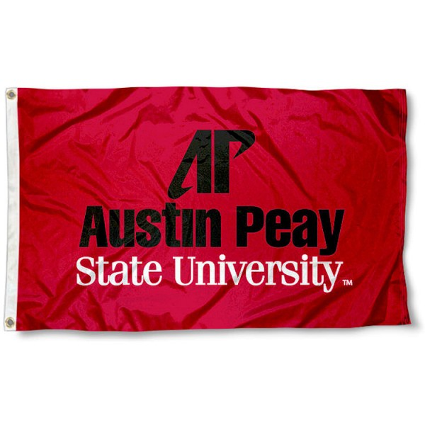 Austin Peay State University Polyester Flag measures 3'x5', is made of 100% poly, has quadruple stitched sewing, two metal grommets, and has double sided Austin Peay State University logos. Our Austin Peay State University Polyester Flag is officially licensed by the selected university and the NCAA