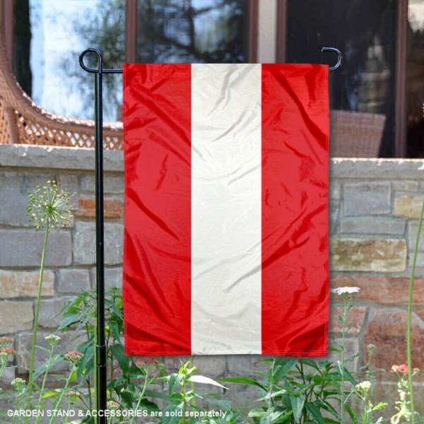 Austria Double Sided Garden Flag is 13x18 inches in size, is made of 2-layer polyester, screen printed logos and lettering, and is viewable on both sides. Available same day shipping, our Austria Double Sided Garden Flag is a great addition to your decorative garden flag selections.