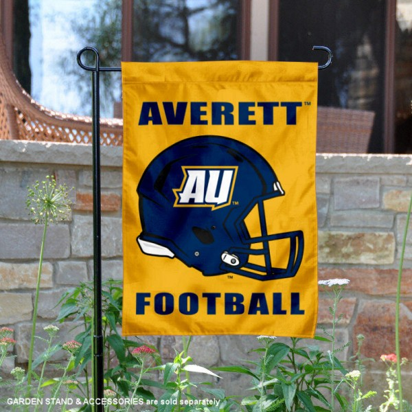 Averett University Football Helmet Garden Banner is 13x18 inches in size, is made of 2-layer polyester, screen printed Averett University athletic logos and lettering. Available with Same Day Express Shipping, Our Averett University Football Helmet Garden Banner is officially licensed and approved by Averett University and the NCAA.