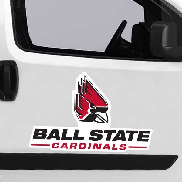 Ball State Cardinals Large Magnet is ideal for inside or outside uses, car and auto door panels, and a great gift idea. Each magnet is a large 16x16 inches, is made of flexible 20 mil magnetic vinyl and has screen printed school logos and team names and slogans.