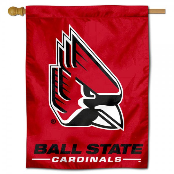 "Ball State Cardinals New Logo Banner Flag is constructed of polyester material, is a vertical house flag, measures 30""x40"", offers screen printed athletic insignias, and has a top pole sleeve to hang vertically. Our Ball State Cardinals New Logo Banner Flag is Officially Licensed by Ball State University and NCAA."