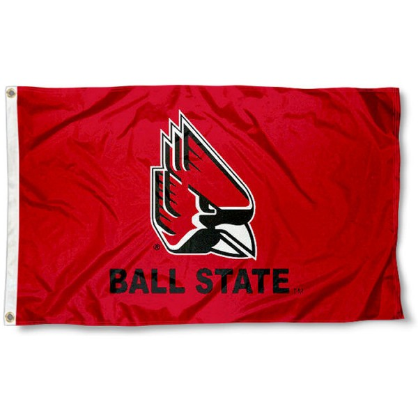 Ball State Cardinals New Logo Red Flag measures 3x5 feet, is made of 100% polyester, offers quadruple stitched flyends, has two metal grommets, and offers screen printed NCAA team logos and insignias. Our Ball State Cardinals New Logo Red Flag is officially licensed by the selected university and NCAA.