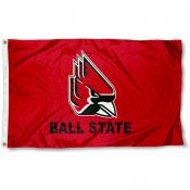 Ball State Cardinals New Logo Red Flag