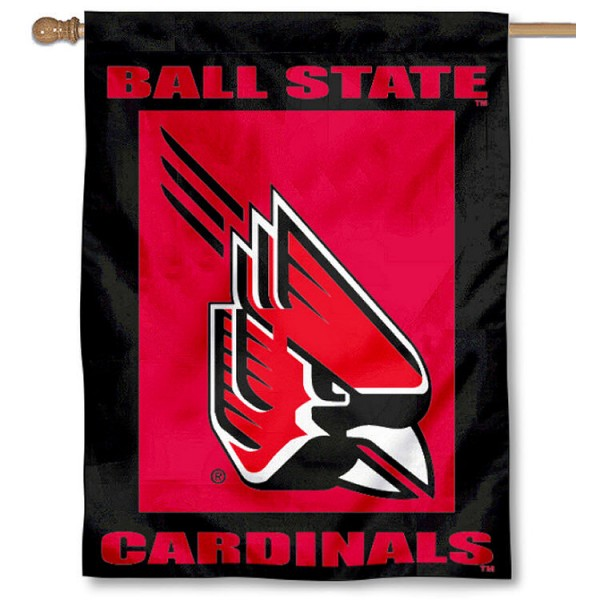 Ball State University House Flag is a vertical house flag which measures 30x40 inches, is made of 2 ply 100% polyester, offers dye sublimated NCAA team insignias, and has a top pole sleeve to hang vertically. Our Ball State University House Flag is officially licensed by the selected university and the NCAA