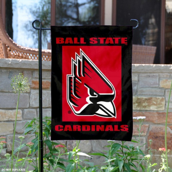 Ball State University New Logo Garden Flag is 13x18 inches in size, is made of 2-layer polyester, screen printed university athletic logos and lettering. Available with Same Day Express Shipping, our Ball State University New Logo Garden Flag is officially licensed and approved by the university and the NCAA.