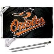 Baltimore Orioles Flag Pole and Bracket Kit