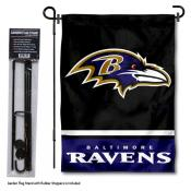 Baltimore Ravens Garden Flag and Stand