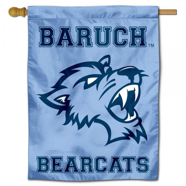 Baruch College Bearcats Double Sided House Flag is a vertical house flag which measures 30x40 inches, is made of 2 ply 100% polyester, offers screen printed NCAA team insignias, and has a top pole sleeve to hang vertically. Our Baruch College Bearcats Double Sided House Flag is officially licensed by the selected university and the NCAA.