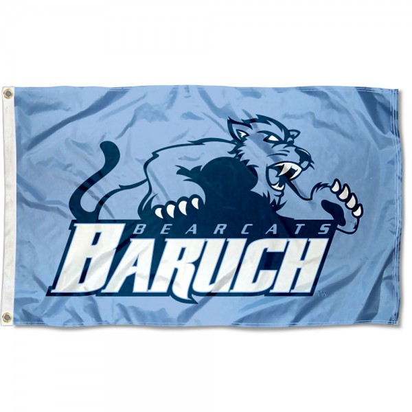 Baruch College Bearcats Flag measures 3x5 feet, is made of 100% polyester, offers quadruple stitched flyends, has two metal grommets, and offers screen printed NCAA team logos and insignias. Our Baruch College Bearcats Flag is officially licensed by the selected university and NCAA.