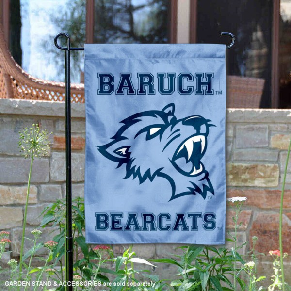 Baruch College Bearcats Garden Flag is 13x18 inches in size, is made of 2-layer polyester, screen printed university athletic logos and lettering, and is readable and viewable correctly on both sides. Available same day shipping, our Baruch College Bearcats Garden Flag is officially licensed and approved by the university and the NCAA.