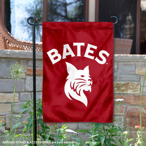 Bates College Bobcats Garden Flag is 13x18 inches in size, is made of 2-layer polyester, screen printed university athletic logos and lettering, and is readable and viewable correctly on both sides. Available same day shipping, our Bates College Bobcats Garden Flag is officially licensed and approved by the university and the NCAA.