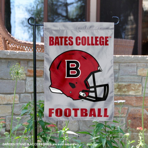 Bates College Football Helmet Garden Banner is 13x18 inches in size, is made of 2-layer polyester, screen printed Bates College athletic logos and lettering. Available with Same Day Express Shipping, Our Bates College Football Helmet Garden Banner is officially licensed and approved by Bates College and the NCAA.