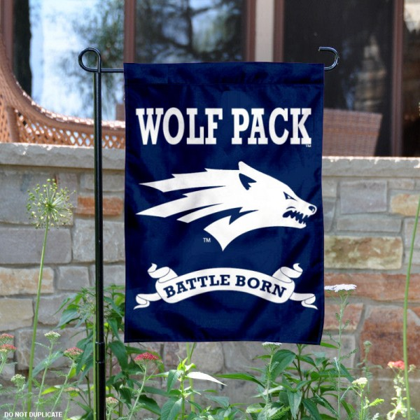 Battle Born Nevada Yard and Garden Flag is 13x18 inches in size, is made of 2-layer polyester, screen printed University of Nevada athletic logos and lettering. Available with Same Day Express Shipping, Our Battle Born Nevada Yard and Garden Flag is officially licensed and approved by University of Nevada and the NCAA.