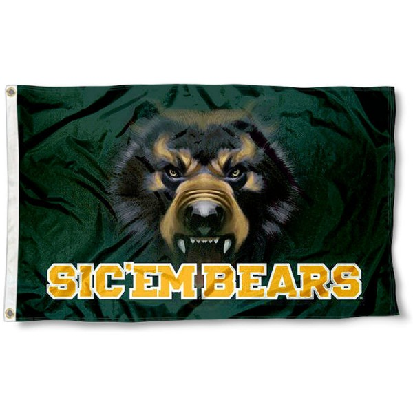 Baylor Bear Eye Flag measures 3'x5', is made of 100% poly, has quadruple stitched sewing, two metal grommets, and has double sided Team University logos. Our Baylor Bears 3x5 Flag is officially licensed by the selected university and the NCAA.