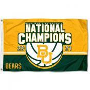 Baylor Bears 2021 Basketball National Champions Flag