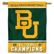 Baylor Bears 2021 National Champions Banner Flag