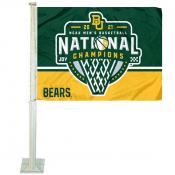 Baylor Bears 2021 NCAA College Basketball Champions Car Flag
