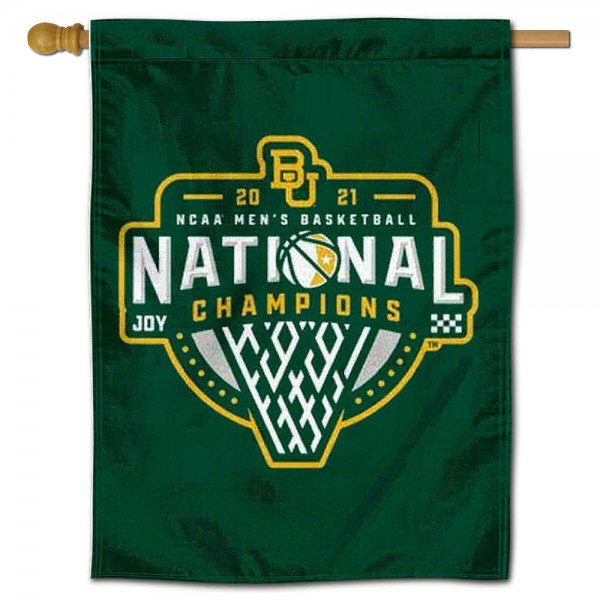 Baylor Bears Basketball National Champions Double Sided House Flag is a vertical house flag which measures 30x40 inches, is made of 2 ply 100% polyester, offers screen printed NCAA team insignias, and has a top pole sleeve to hang vertically. Our Baylor Bears Basketball National Champions Double Sided House Flag is officially licensed by the selected university and the NCAA.