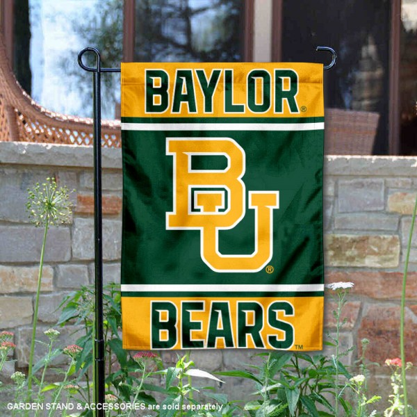 Baylor Bears Garden Flag is 13x18 inches in size, is made of 2-layer polyester, screen printed logos and lettering. Available with Same Day Express Shipping, Our Baylor Bears Garden Flag is officially licensed and approved by the NCAA.