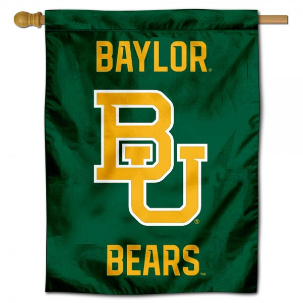 Baylor Bears Logo Double Sided House Flag is a vertical house flag which measures 30x40 inches, is made of 2 ply 100% polyester, offers screen printed NCAA team insignias, and has a top pole sleeve to hang vertically. Our Baylor Bears Logo Double Sided House Flag is officially licensed by the selected university and the NCAA.