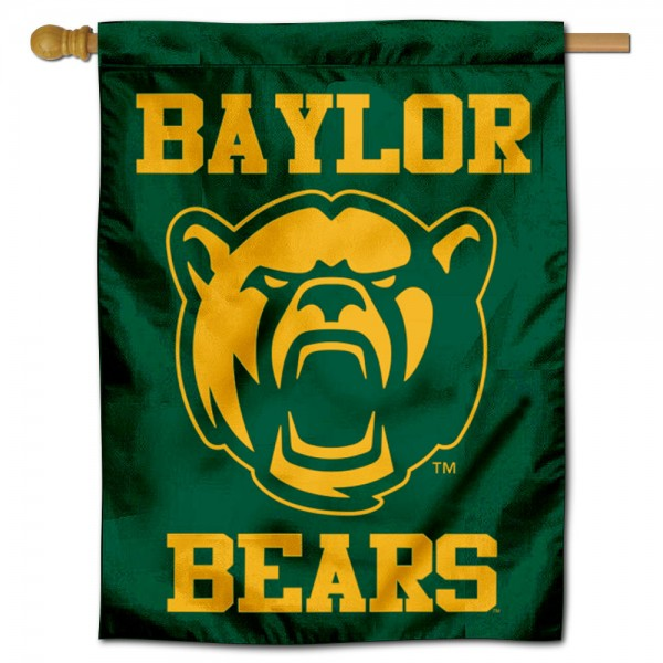 Baylor Bears New Bear Logo Double Sided House Flag is a vertical house flag which measures 30x40 inches, is made of 2 ply 100% polyester, offers screen printed NCAA team insignias, and has a top pole sleeve to hang vertically. Our Baylor Bears New Bear Logo Double Sided House Flag is officially licensed by the selected university and the NCAA.