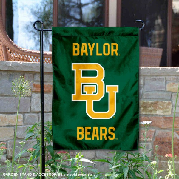 Baylor Bears Wordmark Garden Flag is 13x18 inches in size, is made of 2-layer polyester, screen printed university athletic logos and lettering, and is readable and viewable correctly on both sides. Available with same day shipping, our Baylor Bears Wordmark Garden Flag is officially licensed and team approved by the university and the NCAA.