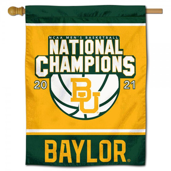 Baylor BU Bears 2021 Basketball National Champions Double Sided House Flag is a vertical house flag which measures 30x40 inches, is made of 2 ply 100% polyester, offers screen printed NCAA team insignias, and has a top pole sleeve to hang vertically. Our Baylor BU Bears 2021 Basketball National Champions Double Sided House Flag is officially licensed by the selected university and the NCAA.