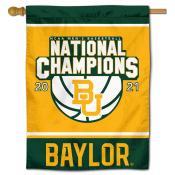 Baylor BU Bears 2021 Basketball National Champions Double Sided House Flag
